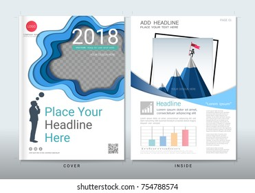 Covers design with space for photo background, Use for fliers, annual report, brochure, leaflet, fact sheet, sale kit, catalog, magazine, booklet, portfolio, poster, Vector template in A4 size.