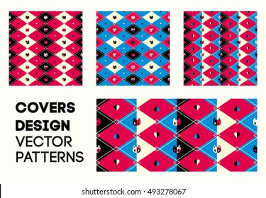 Covers design vector patterns