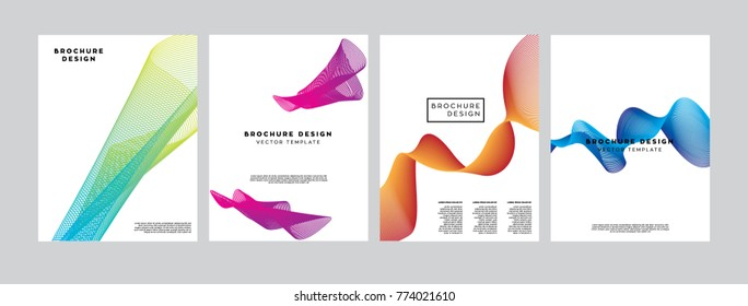Covers with fluid line shapes. Applicable for Banners, Posters, Flyers and Banner Designs template.