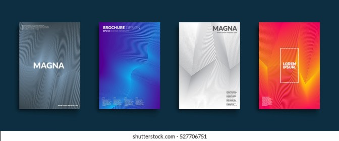 Covers with geometric design. Applicable for Banners, Placards, Posters, Flyers and Banner Designs. Eps10 vector template.