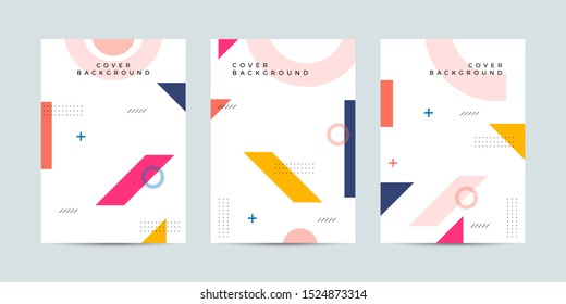 Covers memphis style with minimal design. Cool geometric backgrounds for your design. Applicable for Banners, Placards, Posters, Flyers etc. Eps10 vector