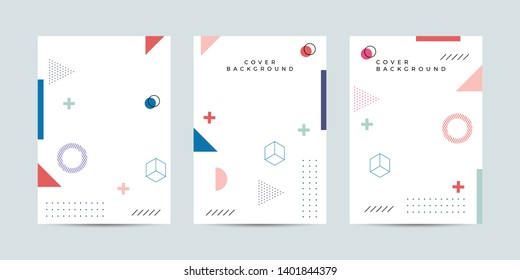 Covers with minimal design. Cool geometric backgrounds for your design. Applicable for Banners, Placards, Posters, Book, Flyers etc. Eps10 vector