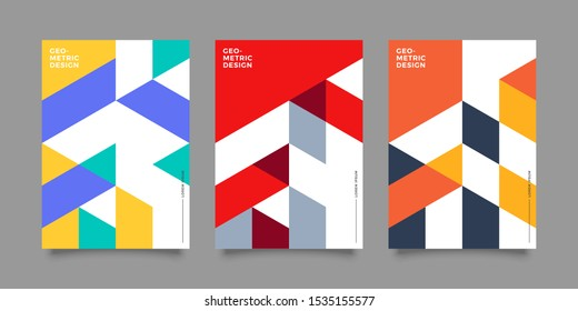 Covers with minimal design. Cool geometric backgrounds for your design. Applicable for Banners, Placards, Posters, Flyers etc. Eps10 vector