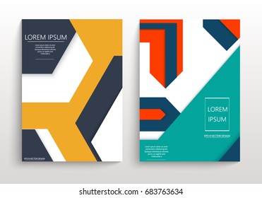 Covers with minimal design. Geometric backgrounds for your design. Applicable for Banners, Annual Report, Magazine, Poster, Corporate Presentation, Portfolio, Flyer, layout. Eps10 vector template