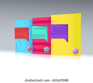 Covers template. Business Blank. Cover book mockup. Can be Used For Advertising, Marketing, Presentation