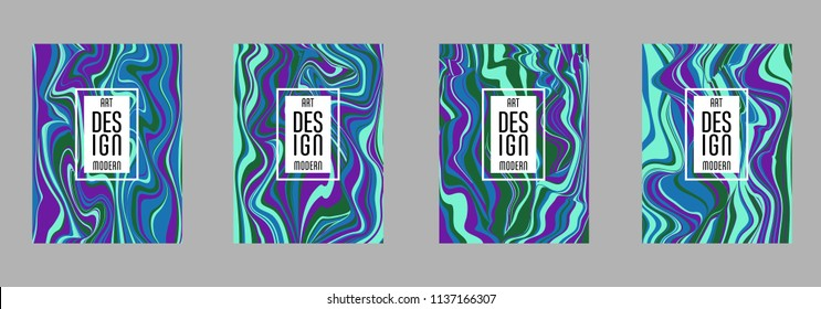 Covers templates set with bauhaus, memphis and hipster style graphic geometric elements. Applicable for placards, brochures, posters, covers and banners.