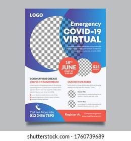 COVID 19 Virtual Conference (Coronavirus) Geometric Flyer Template
