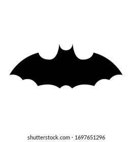 Covid-19 collection bat icon in silhouette Design,vector illustration