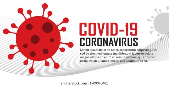 COVID-19 Coronavirus bacteria epidemic information horizontal header banner vector illustration