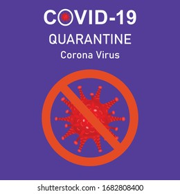 Covid-19 Quarantine Corona virus. health care banner.