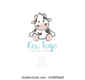 Cow, baby logo