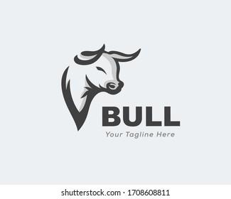 Design-Inspiration für das Logo des Kuhbull-Kopfes