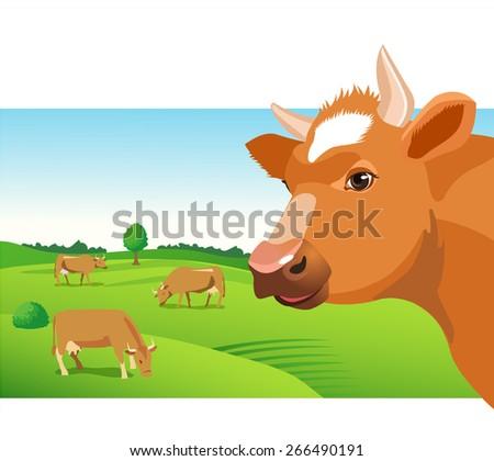 cow face vector image cow face stock vector royalty free 266490191