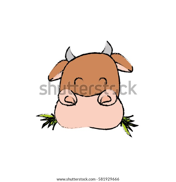 Cow farm animal icon vector illustration graphic design