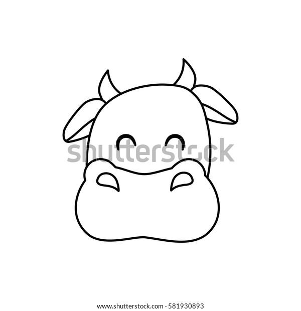 Cow farm animal icon vector illustration graphic design