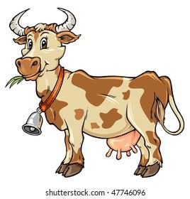 Cow Farm Cartoon