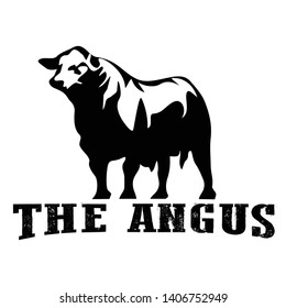 Cow farm logo design icon