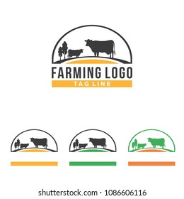 Cow Farm Farm Symbol Illustration