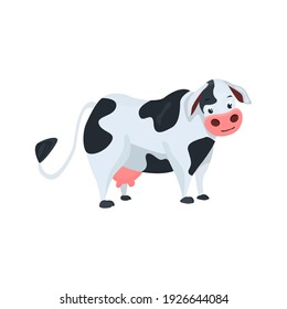 Cow flat icon. Colored vector element from animals collection. Creative Cow icon for web design, templates and infographics.