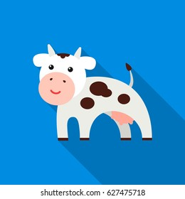 Cow flat icon. Illustration for web and mobile design.