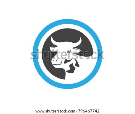 cow head logo design template stock vector royalty free 796467742