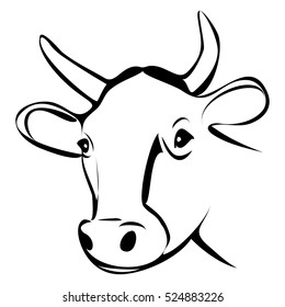 Cow Line Drawing Images Stock Photos Vectors Shutterstock