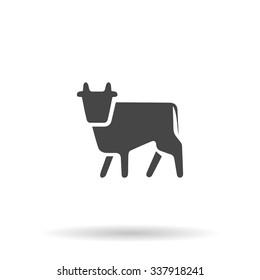 Cow. Icon Vector