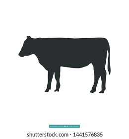 Cow Icon Vector Illustration Logo Template For Website Or Mobile App