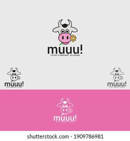 Cow logo logo design vector template