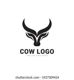 Cow logo icon vector template.