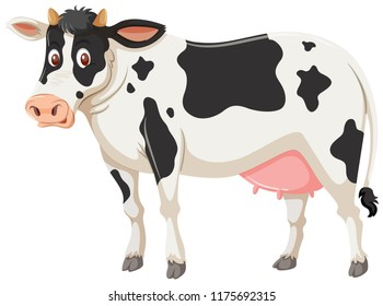 A cow on white background illustration