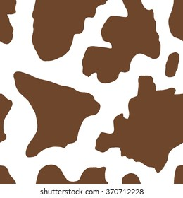 Cow pattern - cattle hide vector. Seamless texture illustration.