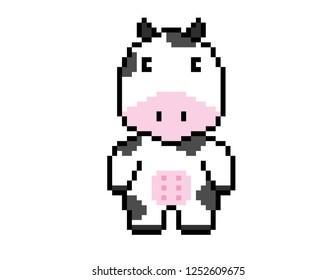 Cow Pixel Art