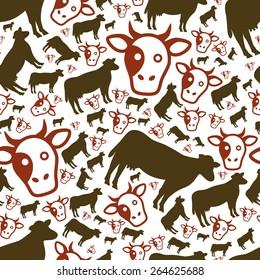 cow seamless pattern