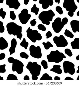 Cow skin vector illustration. Seamless pattern.