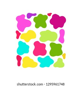 Cow texture pattern. Colorful blot.
