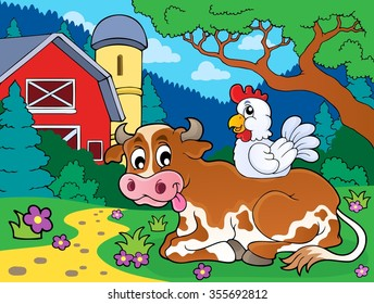 Cow theme image 4 - eps10 vector illustration.