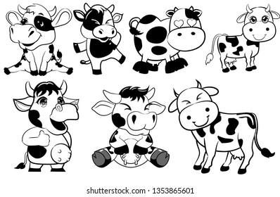 Cow Clipart Images Stock Photos Vectors Shutterstock