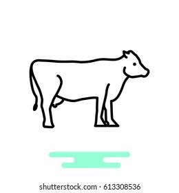 Cow web line icon.