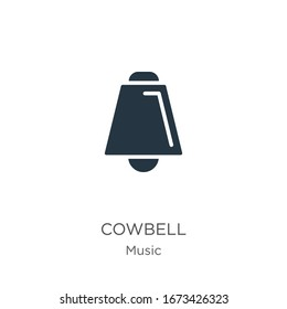 Cowbell icon vector. Trendy flat cowbell icon from music and multimedia collection isolated on white background. Vector illustration can be used for web and mobile graphic design, logo, eps10