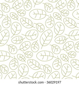 Cowberry leafs: Seamless floral pattern.