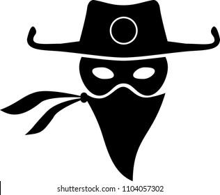 Cowboy, Bandit Vector  illustration
