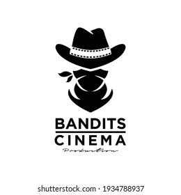 cowboy bandit western logo icon design