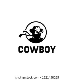 Cowboy bandits with Scarf Mask illustration on white background