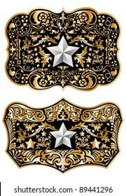 Cowboy belt buckle vector design