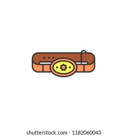 cowboy belt colored icon. Element of wild west icon for mobile concept and web apps. Cartoon cowboy belt icon can be used for web and mobile