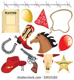 Cowboy birthday party clip art