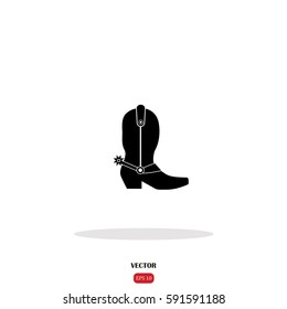 Cowboy boot icon.