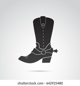 Cowboy boots icon isolated on white background. Vector art.