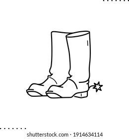 cowboy boots vector icon in outline